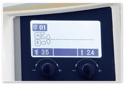 Juki HZL-DX7 Display