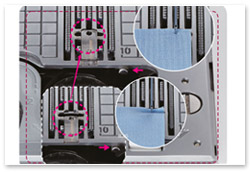 Juki HZL-DX7 Multifunktionale Stichplatte