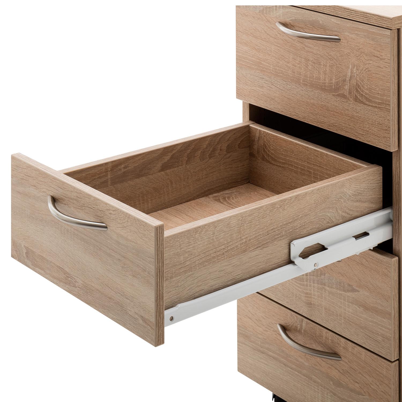 Mit dem Vollauszug kann die Schublade komplett ausgezogen werden, ohne zu kippen oder auch Stabiliät zu verlieren.