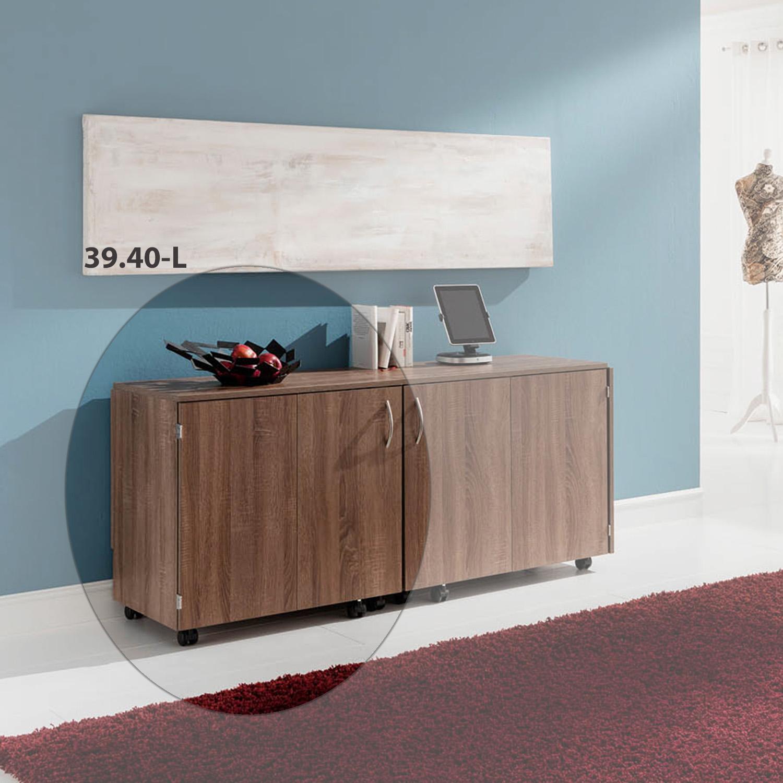 Hier ist die Möbelkombination Zagreb zusammen geklappt in der Farbe Pegasus dunkel aufgebaut.