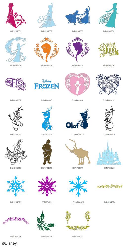 Die enthaltenen Eiskönigin Designs.