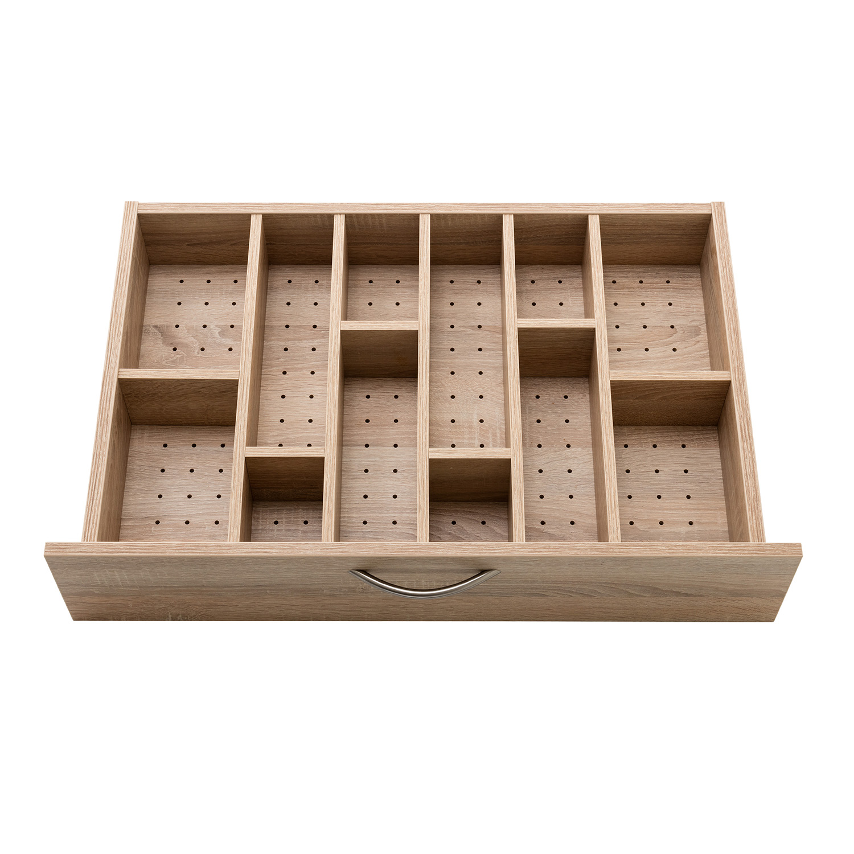 Der zusätzliche PIN-Boden mit Einteilung ist eine Erweiterung des BASE 4-Schubladen-Rollschranks für bessere Sortierungsmöglichkeiten.