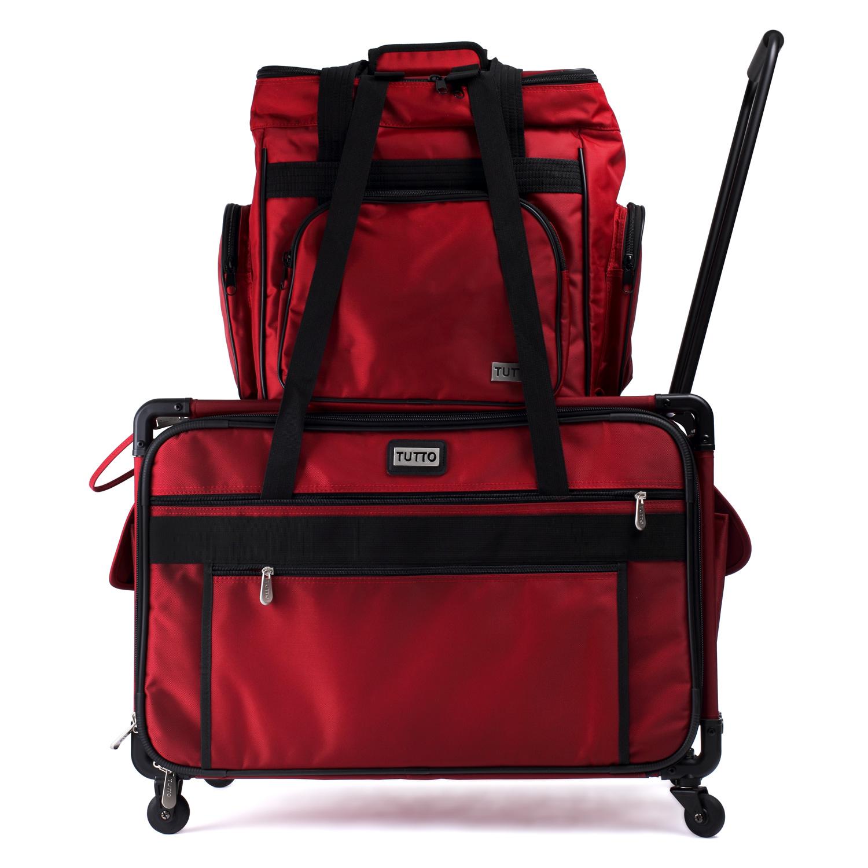 Der Trolley mit der separat erhältlichen TUTTO Overlocktasche kombiniert.