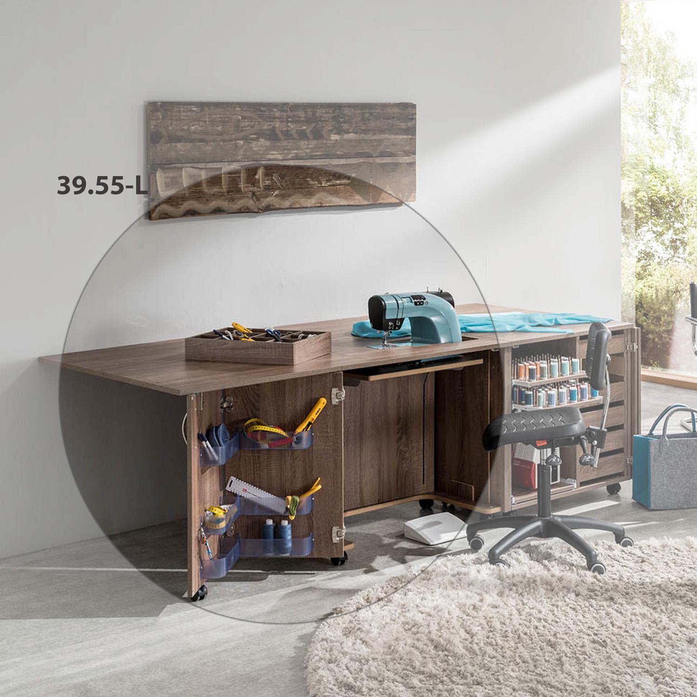 Die kleine Möbelkombination Madrid sorgt für ausreichend Stauraum und bietet genug Platz zum Arbeiten.