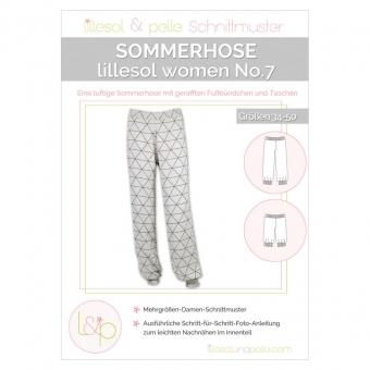 LILLESOL Women Papierschnittmuster No.7 Sommerhose