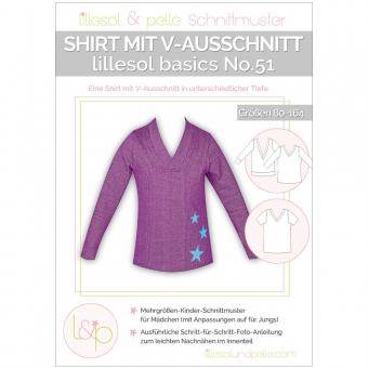 LILLESOL Basics Papierschnittmuster No.51 Shirt mit V-Ausschnitt