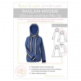 LILLESOL Women Papierschnittmuster No.39 Raglan-Hoodie