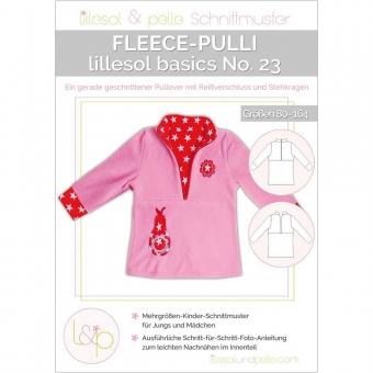 LILLESOL Basics Papierschnittmuster No.23 Fleece-Pulli