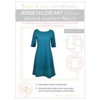 LILLESOL Women Papierschnittmuster No.22 Jerseykleid