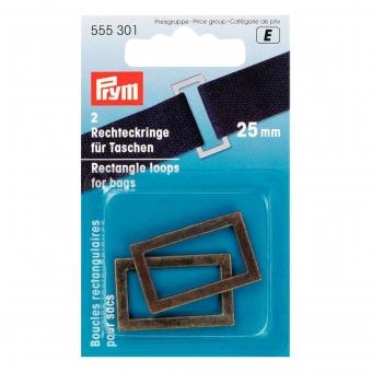 PRYM Rechteckringe 25mm altmessing