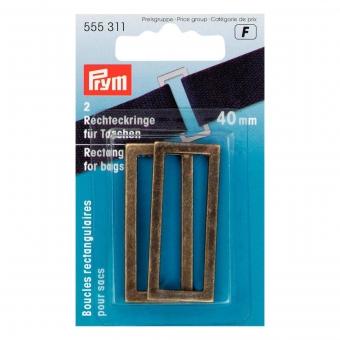 PRYM Rechteckringe 40mm altmessing