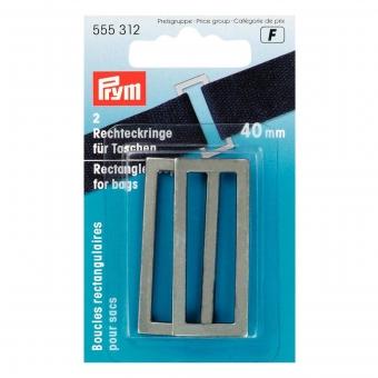 PRYM Rechteckringe 40mm altsilber