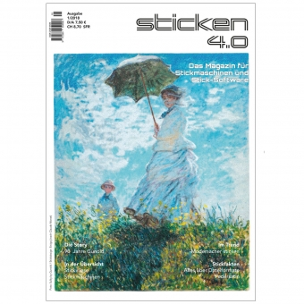 sticken 4.0 - Das Magazin für Stickmaschinen und Sticksoftware 1/18
