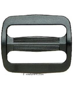 Leiterschnalle schwarz 25mm