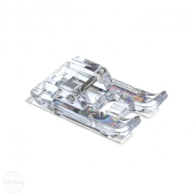 BERNETTE Stickfuß mit transparenter Sohle
