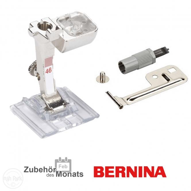 Bernina Transparenter Biesen-Deko-Stichfuß Nr. 46C und Biesenvorrichtung