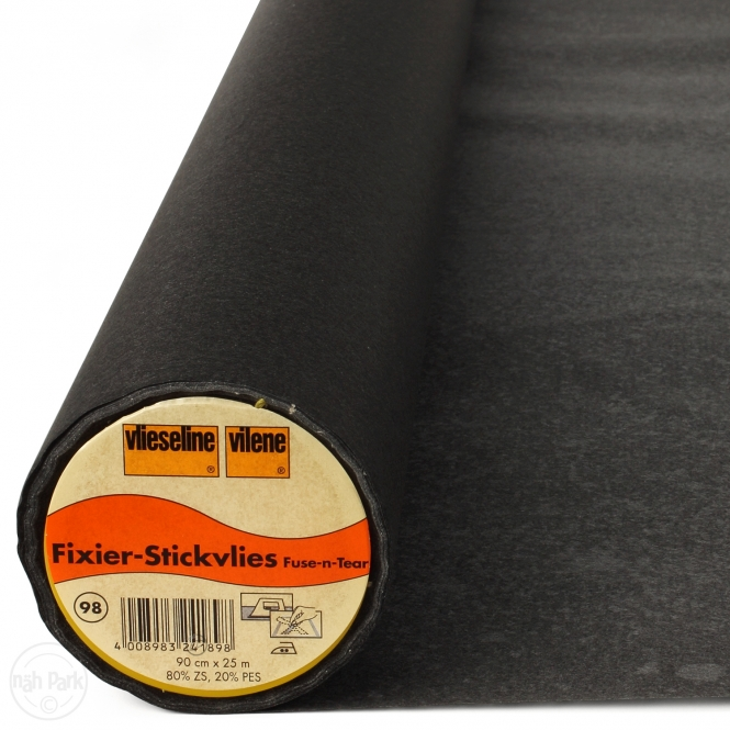 Freudenberg Fixier Stickvlies 90cm schwarz