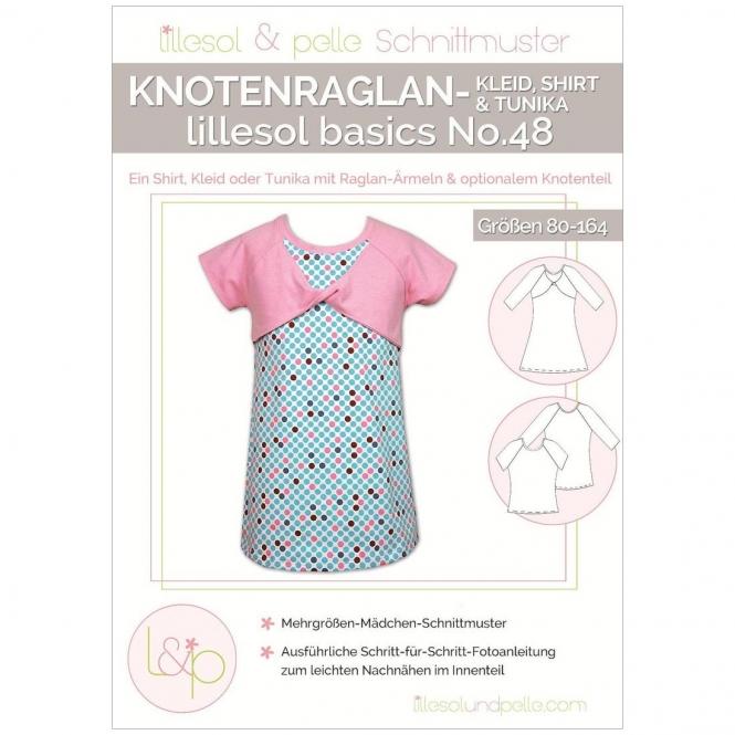 Lillesol Basics Papierschnittmuster No.48 Knotenraglan-Kleid