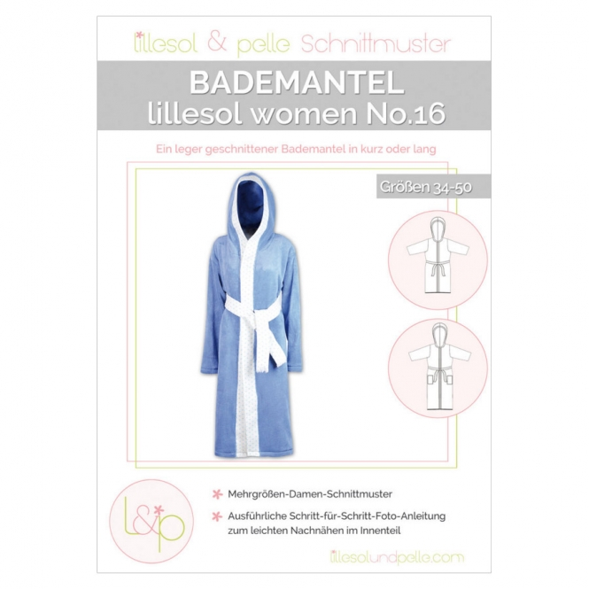 Lillesol Women Papierschnittmuster No.16 Bademantel