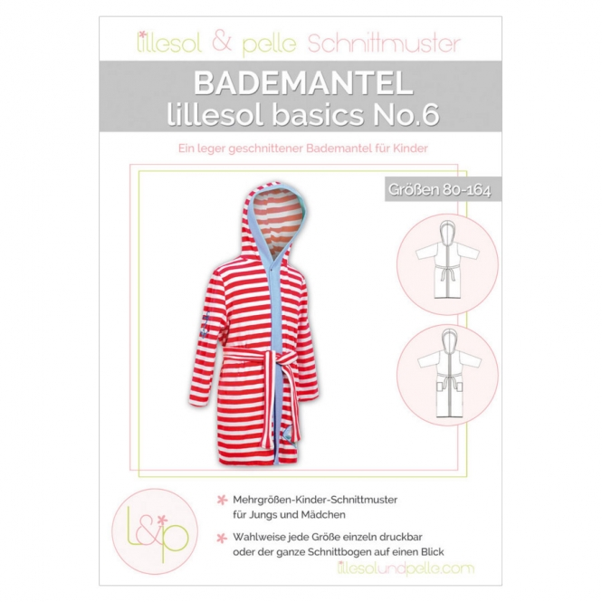 Lillesol Basics Papierschnittmuster No.6 Bademantel