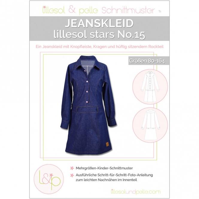 Lillesol Stars Papierschnittmuster No.15 Jeanskleid