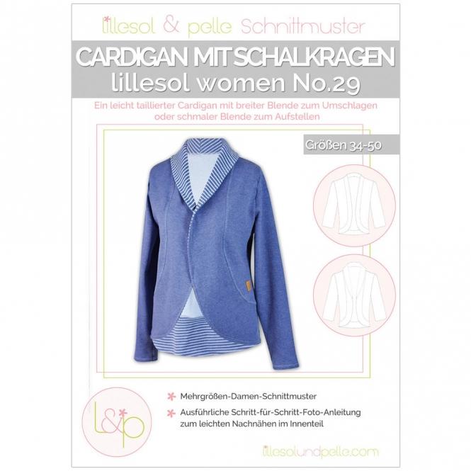 Lillesol Women Papierschnittmuster No.29 Cardigan mit Schalkragen