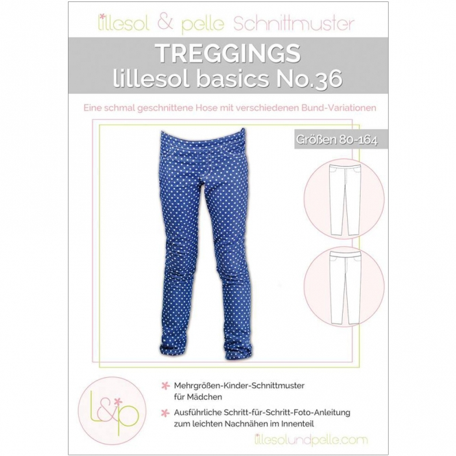 Lillesol Basics Papierschnittmuster No.36 Treggings