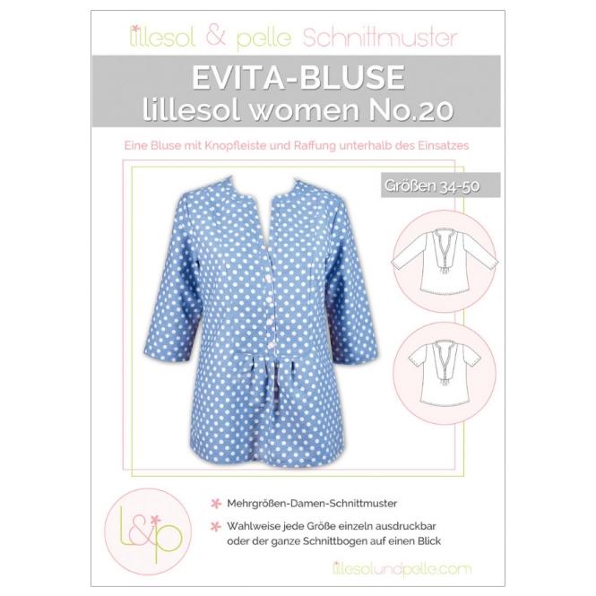Lillesol Women Papierschnittmuster No.20 Evita-Bluse