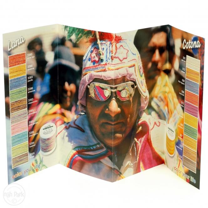 Farbkarte Druck Madeira Lana/Cotona Multicolor