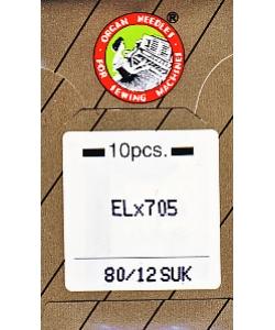 Overlocknadeln EL x 705 SUK 10er Pack St. 80