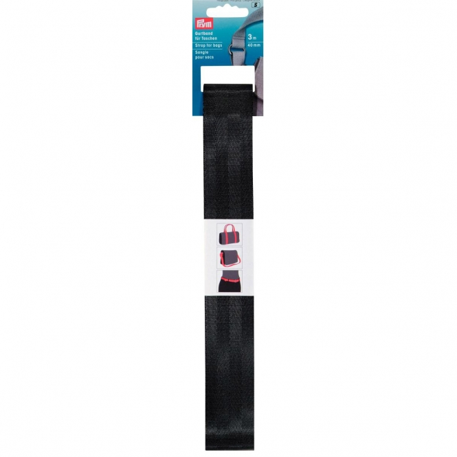 Prym Gurtband 40mm schwarz