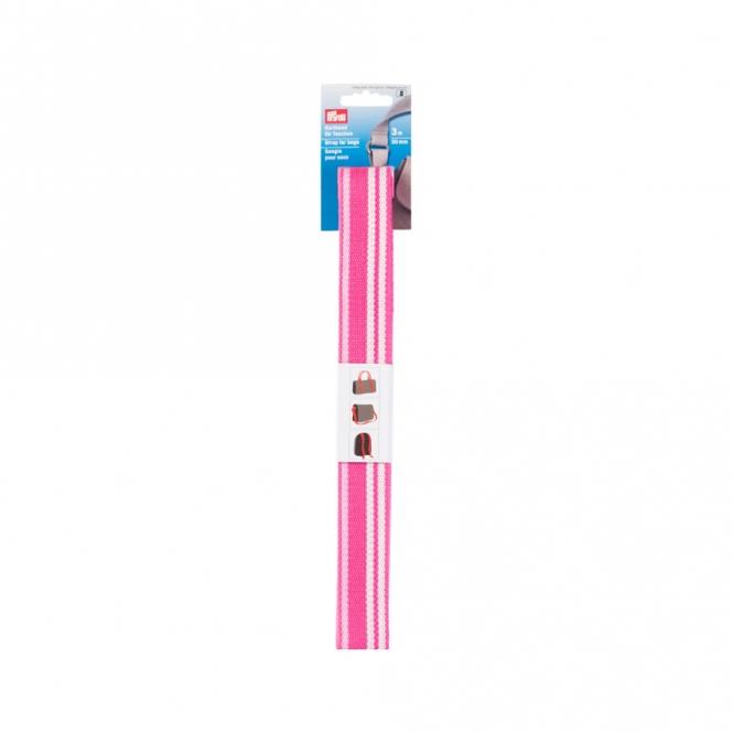 Prym Gurtband 30mm pink/weiß