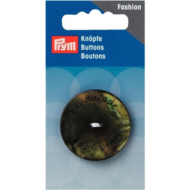 Prym handmade Knopf 2-Loch grün
