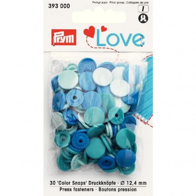 Prym Love Color Snaps blau