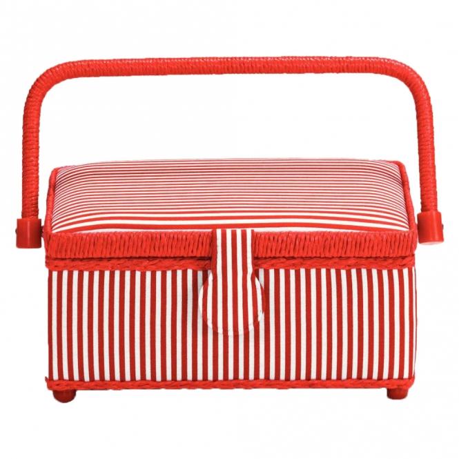 Prym Nähkorb Red Stripes S