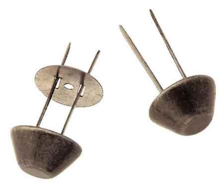 Prym Bodennägel für Taschen 15mm altsilber