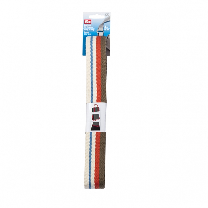 Prym Gurtband 40mm natur/mehrfarbig gestreift