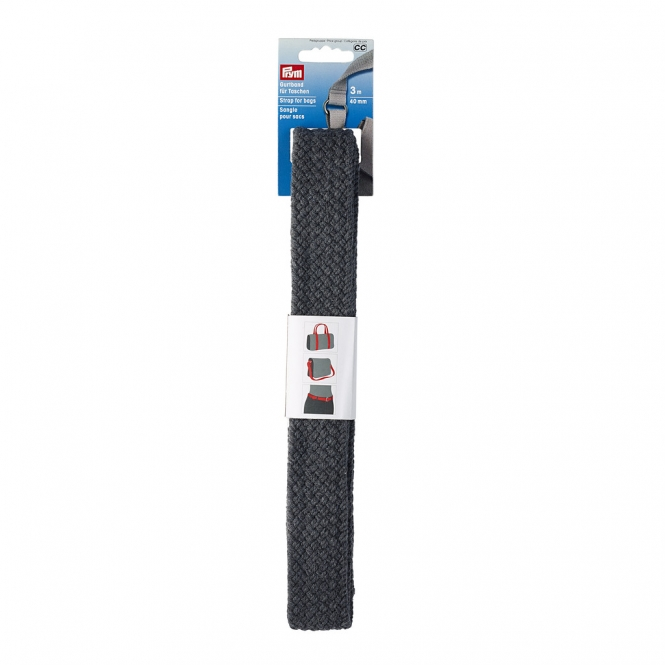 PRYM Gurtband geflochten 40mm grau