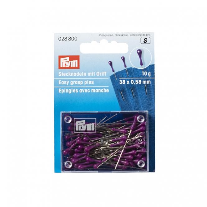 Prym Stecknadeln mit Griff silberfarbig violett 10g