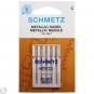 SCHMETZ Maschinen-Sticknadeln Metallic St. 80