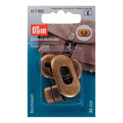 PRYM Drehverschluss für Taschen altmessing