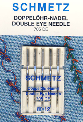 SCHMETZ Doppelöhr-Nadel