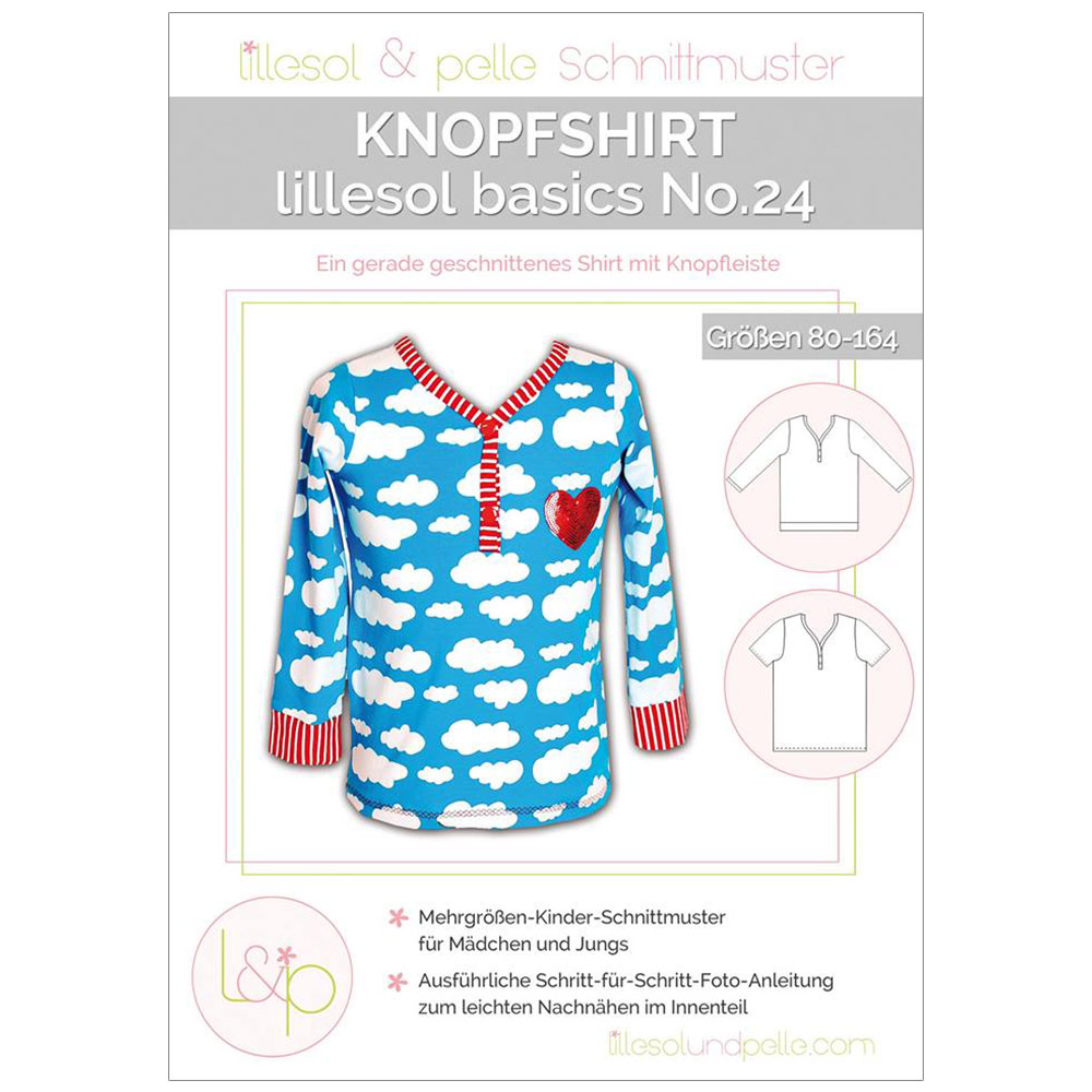 LILLESOL Basics Papierschnittmuster No.24 Knopfshirt