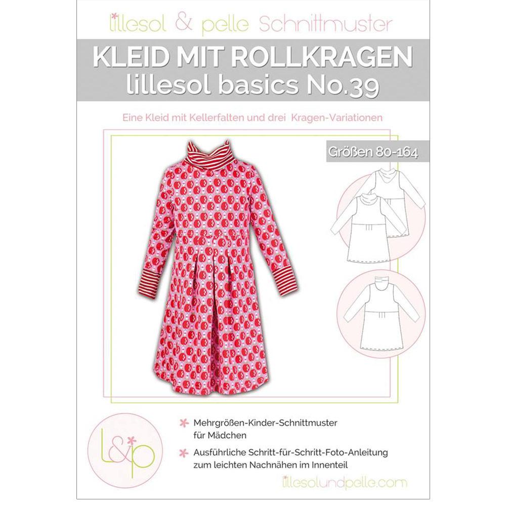 LILLESOL Basics Papierschnittmuster No.39 Rollkragen-Kleid