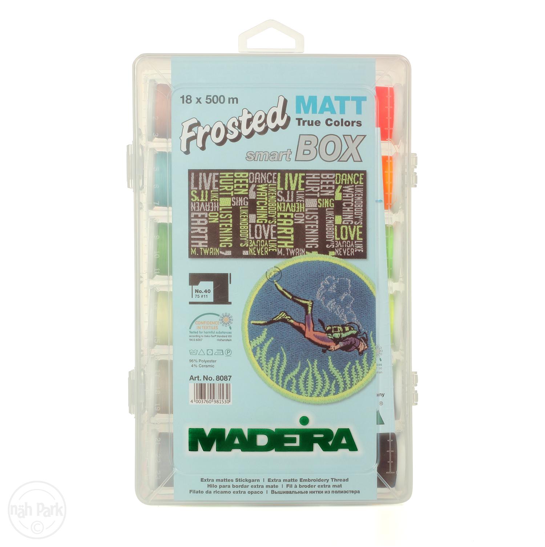MADEIRA Smart Box Frosted Matt No.40 500m x 18 Spulen