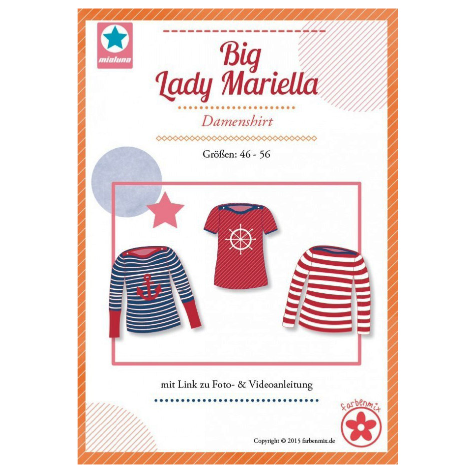 MIALUNA Papierschnittmuster Shirt Big Lady Mariella