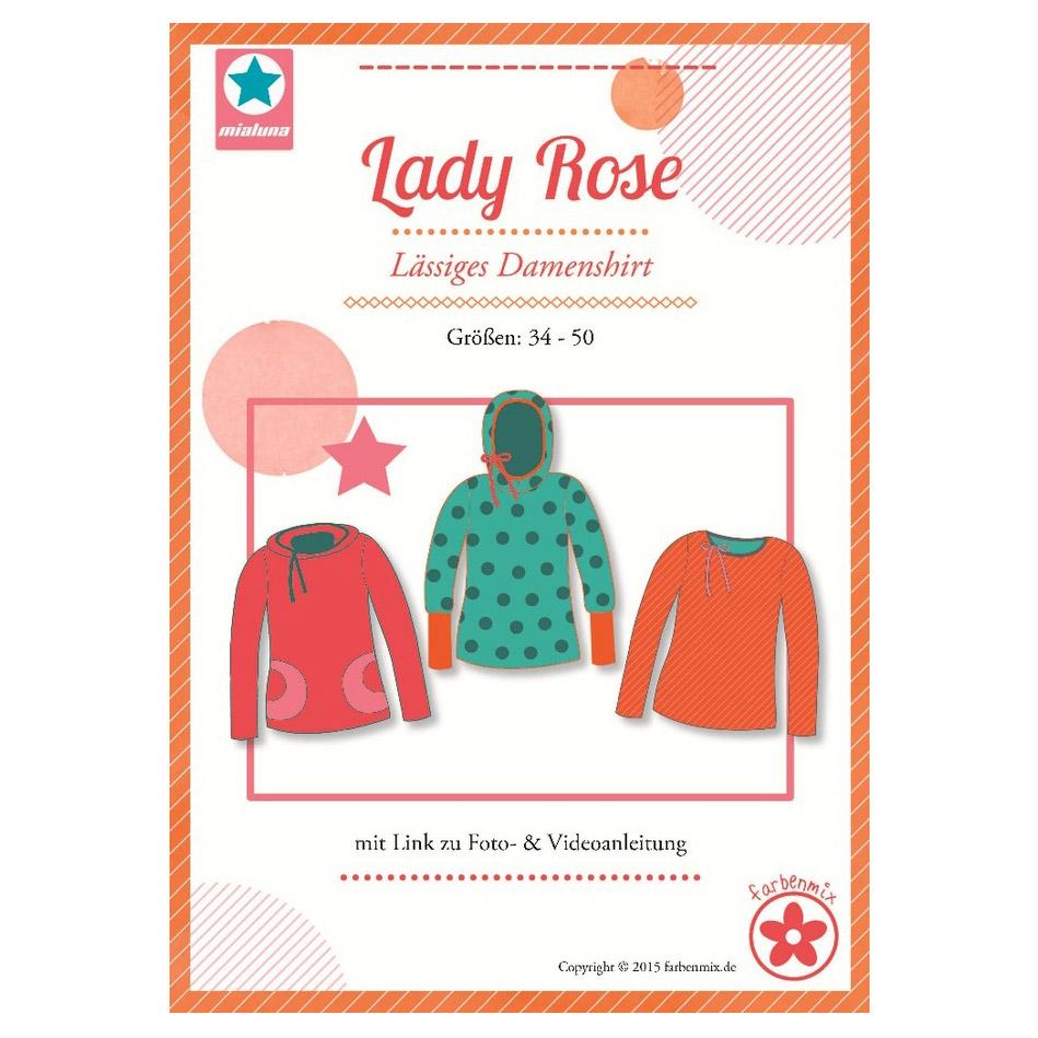 MIALUNA Papierschnittmuster Shirt Lady Rose