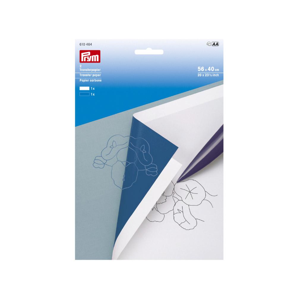 PRYM Transferpapier weiß/blau