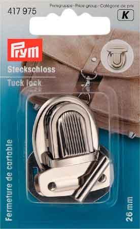 PRYM Steckschloss 26mm silberfarbig