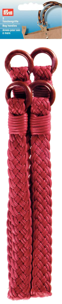PRYM Taschengriff Rose rot